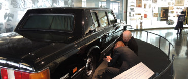 Examination of the tires of the limousine the first President of Russia